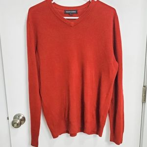 Tricots St Raphael Deep Red V-Neck Sweater